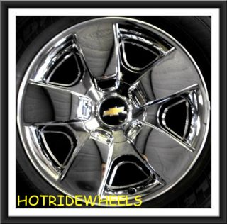 "20"" Chevy Silverado Suburban Tahoe Chrome Clad Wheels with Tires 763B"