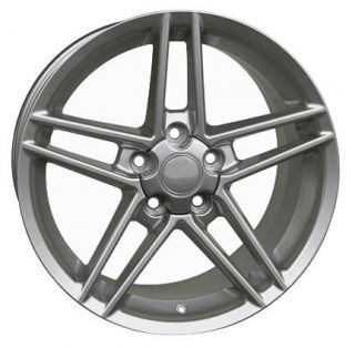 "18"" Silver Corvette ZO6 Style Wheels C4 C5 Rims Fit Camaro Firebird"