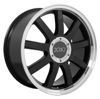 "18"" Black RS4 Style Deep Dish Wheels Set of 4 Rims Fit Audi A4 A6 A8 Allroad TT"