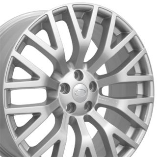 "22"" Fits Land Rover Cosworth Replica Wheels Silver Set of 4"