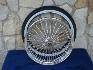 21x3 5 16x5 5 DNA 52 Spoke Fat Daddy Wheels for Harley Softail Touring 2009 Up