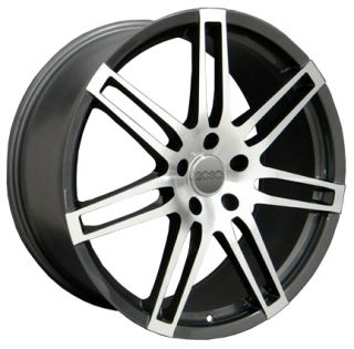 "20"" RS4 Wheels Gunmetal Set of 4 Rims Fit Audi Q7 Cayenne VW Touareg"