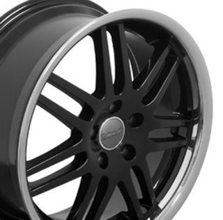 "18"" Rims Fit Audi RS4 Deep Dish Black Wheels 18 x 8"