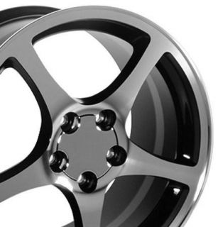 "18"" Corvette C5 Black Wheels with A Machined Face Set of 4 Rims Fits Camaro SS"