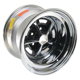 "Wheel Vintiques 52 Olds SS1 Chrome w Black Slot Wheel 15""x10"" Qty 4"