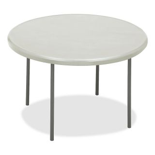 Iceberg Indestruct Table Too Round Folding Table 29 H x 48 D PlatinumGray