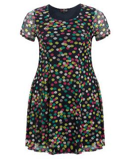 Lovedrobe Navy Polka Dot Dress