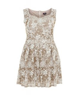 Lovedrobe Cream Lace Cap Sleeve Dress
