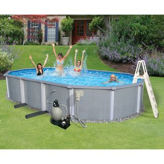 Zanzibar 15x30 foot Oval Hybrid Above ground and Kit Swim Time Above Ground Pools