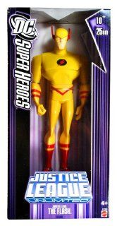 Mattel Year 2007 DC Super Heroes Justice League Unlimited Series 10 Inch Tall Action Figure   Justice Lord THE FLASH in Yellow Costume(K9388) Toys & Games