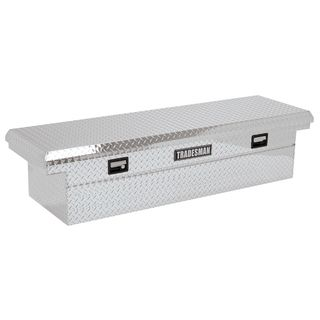 70 Inch Low Profile Silver Diamond Plated Aluminum Cross Bed Truck Tool Box Tradesman Truck Auto Exterior Accessories