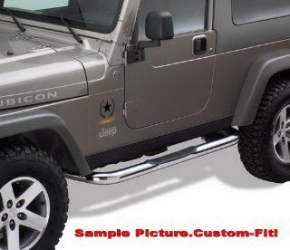 "Premium Custom Fit 2007 2015 Jeep Wrangler 2 Door 3"" Side Armor Step Nerf Bars Stainless Steel Running Boards Automotive"