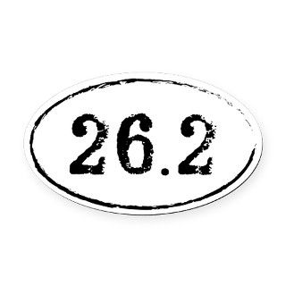 26.2 Marathon Runner Oval Oval Car Magnet by Admin_CP6776182