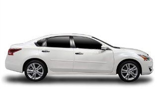 2013 Nissan Altima Body Side Moldings (Custom Painted White Pearl QAB) Automotive