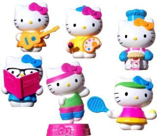 2013 Mcdonalds Hello Kitty Toy Figure Set of 6 Toys & Games