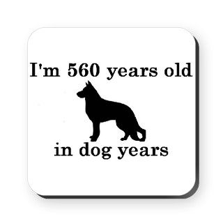 80 birthday dog years german shepherd black 2 Cork by PARTYHUT