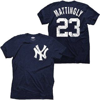 New York Yankees Don Mattingly Cooperstown Name & Number T Shirt by Majestic Threads  Sports Fan T Shirts  Sports & Outdoors