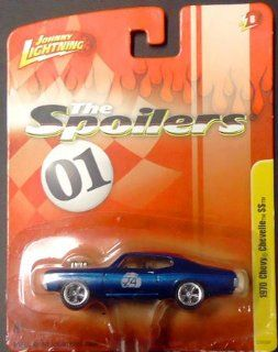 "2011 Johnny Lightning ""The Spoilers"" 1970 Chevy Chevelle SS 164 die cast car release 8 (blue w/ racing number 24) Toys & Games"