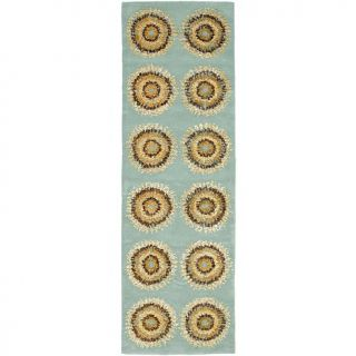 Safavieh Soho Light Blue Multicolored Rug with Circles