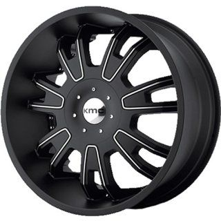 KMC KM664 22x9.5 Black Wheel / Rim 5x4.25 & 5x4.5 with a 38mm Offset and a 72.60 Hub Bore. Partnumber KM66422901738 Automotive