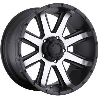 Ultra Crusher 15 Machined Black Wheel / Rim 5x4.5 with a  19mm Offset and a 82 Hub Bore. Partnumber 195 5865U Automotive