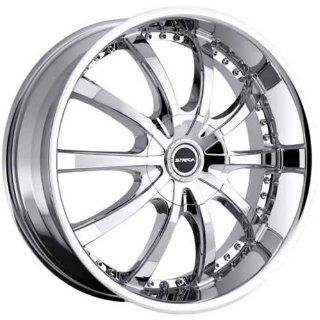 Strada Sole 22 Chrome Wheel / Rim 5x112 & 5x115 with a 40mm Offset and a 74.1 Hub Bore. Partnumber S20250240 Automotive