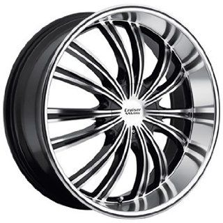 Cruiser Alloy Shadow 22x8.5 Machined Black Wheel / Rim 5x112 & 5x4.5 with a 40mm Offset and a 73.00 Hub Bore. Partnumber 912MB 2285940 Automotive