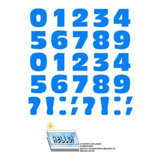Numbers Punctuation Blue SLAP STICKZ(TM) Automotive Car Window Locker Bumper Stickers Automotive