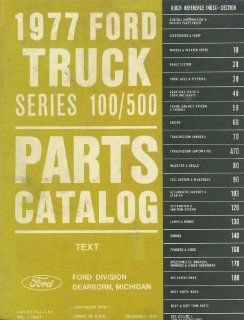 1977 Ford Truck 100 500 Part Numbers Book List Catalog Manual Interchange OEM Automotive