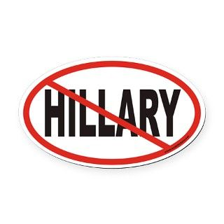 No Hillary Euro Oval Car Magnet by Admin_CP1436