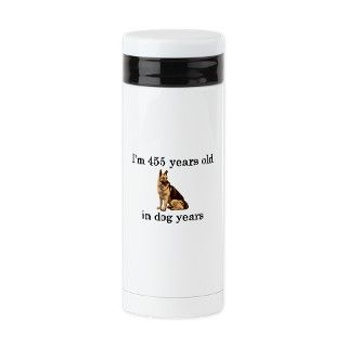 65 birthday dog years german shepherd Tea Tumbler by PARTYHUT