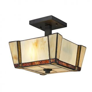 Dale Tiffany Paragon Semi Flush, Ceiling Mounted Lamp