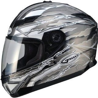 G Max GM78 Firestarter Helmet , Gender Mens/Unisex, Primary Color Black, Helmet Type Full face Helmets, Helmet Category Street, Size 2XL, Distinct Name Firestarter Titanium/Silver G178468 TC 18 Automotive