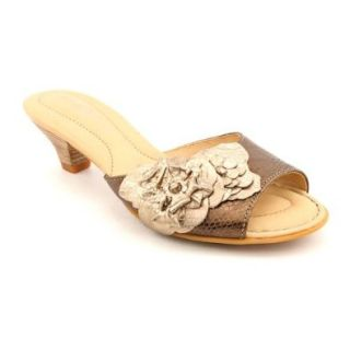 Born Crown Aphrodite Womens Size 11 Bronze Open Toe Leather Slides Sandals Shoes Shoes