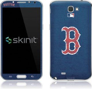 MLB  Boston Red Sox   Solid Distressed  Skinit Skin for Samsung Galaxy Note II Cell Phones & Accessories