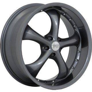 Status Retro 22 Gunmetal Wheel / Rim 5x120 with a 15mm Offset and a 74.1 Hub Bore. Partnumber S818ML5H15H74 Automotive
