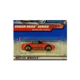 Mattel Hot Wheels 1998 164 Scale Sugar Rush Series Reese's Mazda MX 5 Miata Die Cast Car 1/4 Toys & Games