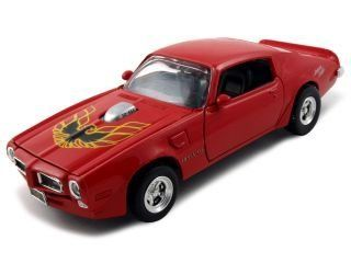"1973 Pontiac Firebird Trans Am ""American Graffiti"" Diecast Car Model 1/24 Red Die Cast Car by Motormax Toys & Games"
