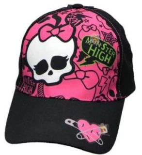 "Monster High ""Heart Pin"" Baseball Hat (Junior One Size)   black, one size Clothing"