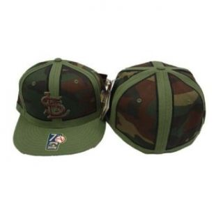 St. Louis Cardinals MLB Green and Brown Camouflage Cooperstown Collection Fitted Baseball Hat / Cap Clothing