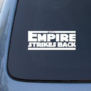 The Empire Strikes Back Movie Logo   Star Wars   Car, Truck, Notebook, Vinyl Decal Sticker #2534  Vinyl Color White