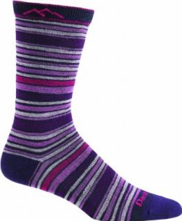 Darn Tough Vermont Women's Merino Wool Stripes Crew Light Cushion Hiking Socks  Fit Socks Hiking  Sports & Outdoors