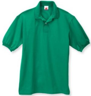 Men's 5.2 oz Hanes STEDMAN Blended Jersey Polo Ash S Clothing