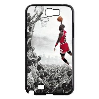 NBA Super Star Michael Jordon For iphone SAMSUNG GALAXY NOTE 2 N71OO Best Durable Plastic Case Cell Phones & Accessories