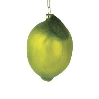 "Sugared Fruit Decorative Green Lime Glass Christmas Ornament 4""   Decorative Hanging Ornaments"