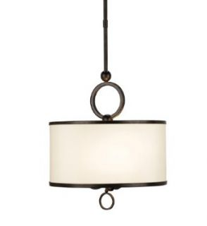 Currey and Company 9107 Brownlow 3 Light Wrought Iron Small Pendant, Bronze Gold