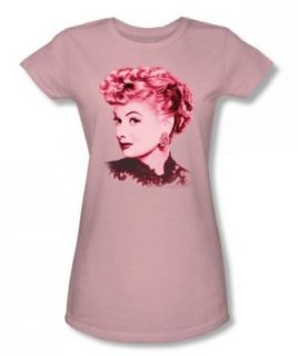 I Love Lucy   Beautiful Juniors / Girls T Shirt In Pink Clothing