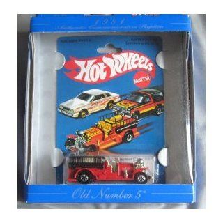 Hot Wheels 30th Anniversary Commerative Replica 1981 Old Number 5 RED Toys & Games