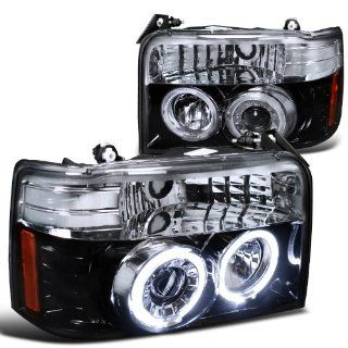Ford Bronco F150 F250 F 150 F 250 Smoked Halo Projector Head Lights Automotive