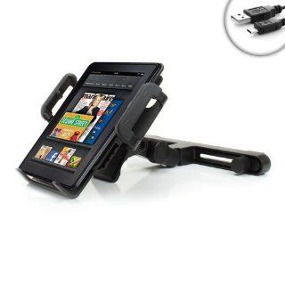 "USA Gear TabGRAB Kindle Fire HDX 7"" , 8.9"" Car Headrest Video Display Mount Holder with Reinforced No Slip Design   Compatible With  Kindle Fire HDX Tablet"